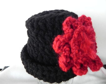 Little Black Newborn Hat INVENTORY REDUCTION SALE Ready to Ship!