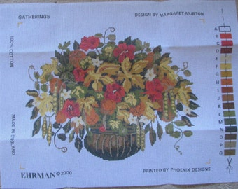 Ehrman Needlepoint/Tapestry Kit Gatherings Discontinued