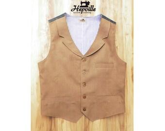 Bespoke Linen Denim Classic Vest