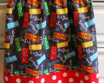 Math Genius  Skirt    ( 2T, 3T, 4T, 5, 6, 7, 8, 10)