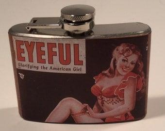 Pin Up Girl Flask