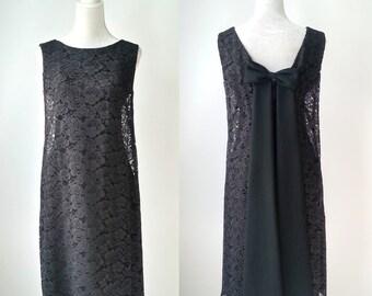 Vintage Black Dress, Vintage Lace Dress, 1960s Lace Dress, Mod Black Dress, Lace 60s Dress, Black Lace Dress, Vintage 60s Dress, Retro 60s