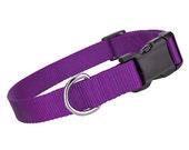 Deluxe Purple Nylon Collar - Nylon Dog Collar - Purple Pet Collar - Adjustable Dog Collar - Nylon Purple Dog Collar