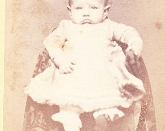 Vintage Photo Adorable Baby Girl Old Photograph Paper Ephemera Snapshot Photo Collectibles