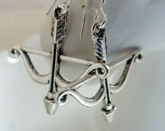 Silver Arrow Earrings. Arrow Dangly Dangle Earrings. Silver Bow And Arrow. Arrow Long Earrings