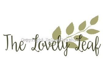Pre Made Leaf Logo Etsy Shop Branding