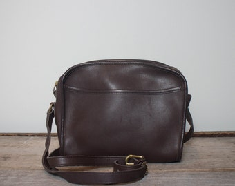 Vintage Coach Bag Small Brown Leather Cross Body Handbag