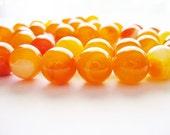 Agate Beads Gemstone Orange Round 10MM