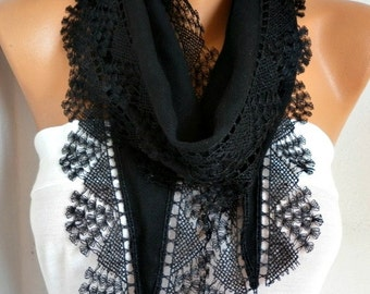 Black Pashmina Scarf,Teacher Gift ,Necklace,Cotton Scarf Cowl Scarf,Bridal Scarf,Gift Ideas For Her Women Fashion Accessories,wedding scarf