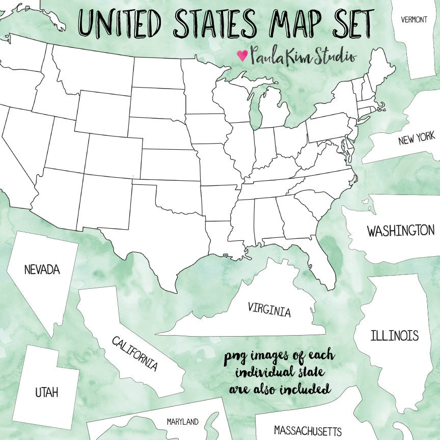 clip art map united states - photo #43