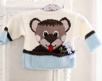 "Baby sweater ""Manni Taddles""- soft baby merino"