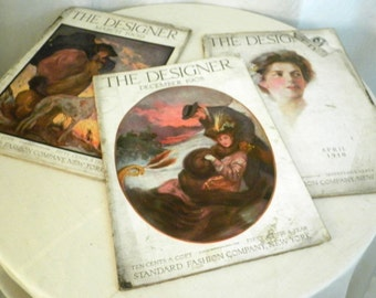 Vintage Fashion Magazines Edwardian Antique Magazine The Designer Choice of Two Different Issues