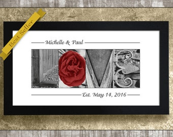 1st Wedding Anniversary Gift, Paper Anniversary Gift, Gift for Couples, Wedding Gift, Anniversary Gift, Wedding Gift for Parents, Love Sign