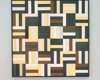 Study in Neutral - Wood Quilt