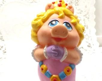 1989 plastic young Miss Piggy, Muppets, Jim Henson