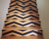 FALL SALE - Chevron Your Stairs - Removable wallpaper - Vinyl wall sticker decal - THICK Chevrons