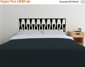 ON SALE - Oversized Zipper Headboard Decal  — Removable vinyl wall sticker decal