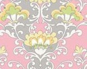 FABRIC LOT 5 YARDS Priscilla C3361 Pink by Lila Tueller for Riley Blake,Damask Fabric,Flower Fabric,Floral Fabric,100% Cotton Quilt Apparel