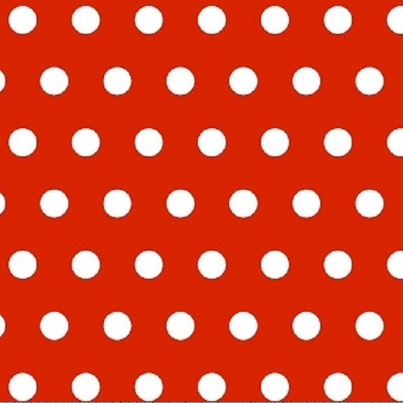 Red and white fabric,Polka dot fabric,Half inch polka dot fabric,100 percent cotton,Quilt fabric,Apparel fabric,Sold by The Fat Quarter