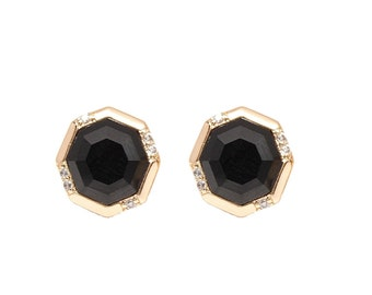 Black Onyx Earring - Holiday Gifts - Black Stone Jewelry - Onyx Earrings - Stud Earrings for Her