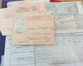 Collection of French Vintage letters and envelopes