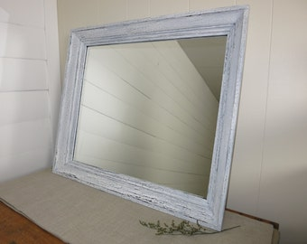 Farmhouse crackle mirror