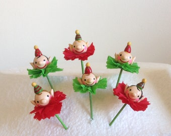 Elf/Elves Cupcakes/Christmas Toppers