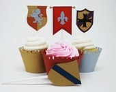 Coat of Arms Cupcake Toppers In your choice of color Qty 12