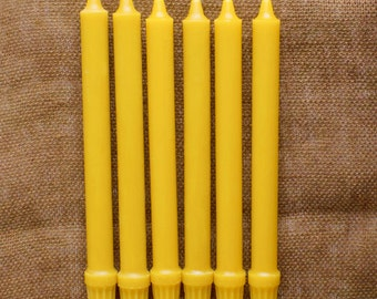 """100% Pure Beeswax Candles - 10"""" Colonials - (set of 6)"""