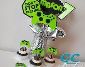 CUSTOM Video Game Centerpiece Picks & Cupcake Toppers - Gamer Party Decorations, Table Decor