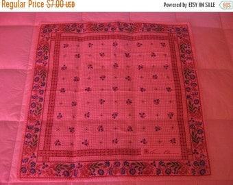 on sale Vintage Handkerchief, Floral Handkerchief, Anne Klein, Floral Bandana, Prairie Style, Calico Fabric, Vintage Bandana