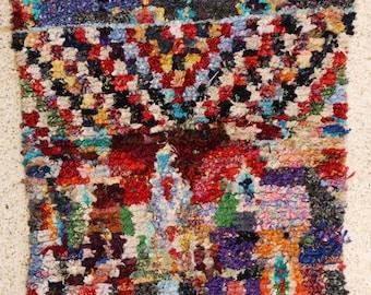 180x130 CM (5,10x4,3 feet) FREE SHIPPING worldwide  T26261 boucherouite , boucharouette,  moroccan rugs , berber rugs, morocco carpets