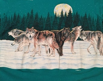 Vintage Turquoise National Wildlife Federation Wolfpack T-Shirt