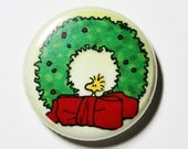 Woodstock Wreath, 1 inch Button - Pin or Magnet
