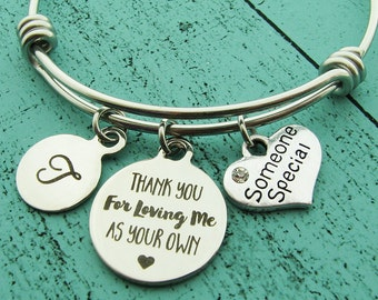 stepmom of the bride gift, someone special bracelet, stepmom gift, foster mom gift, thank you gift, adoption bracelet, teacher gift