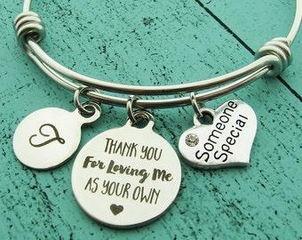stepmom of the bride gift, someone special bracelet, stepmom gift, foster mom gift, thank you gift, adoption bracelet, teacher gift