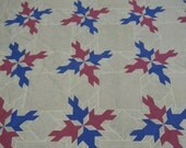 """RESERVE for MARY:  Vintage quilt top of four doves in blue and dark pink  hand pieced  8"""" borders 84"""" x 84"""""""
