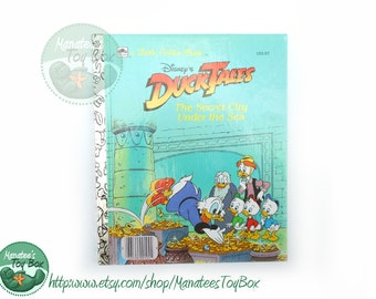 Vintage 1980s DuckTales book The Secret City Under the Sea Little Golden Book