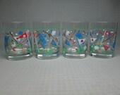 CULVER glass golf glasses set of four