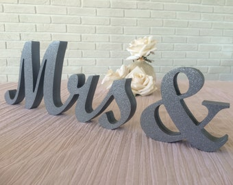 Wedding Sweetheart Table Signs Mr and Mrs Svetulka design , Mr and Mrs Letters, Stable Mr & Mrs Sign Set