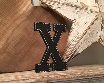 Hand-painted Wooden Letter X, Wall Letter, 9mm thick - Rockwell Font - Various sizes, finishes and colours
