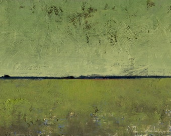 Marsh Light — Original Oil Painting Landscape Painting by John W. Shanabrook, 5 x 7 (Reserved)