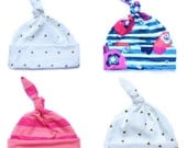 Choose your fabric baby hat - Knot hat - Top knot baby hat - Toddler hat - Newborn hospital hat - Baby gift - Jersey stretch hat