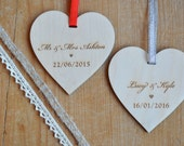 Special Date Hanging Wooden Heart