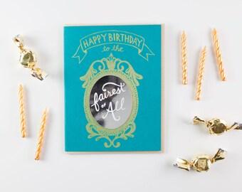 Magic Mirror card - Fairytale Birthday card