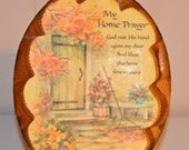 Wooden Plaque My Home Prayer Vintage Wood Prayer Plaque Wall Hanging Very Nice