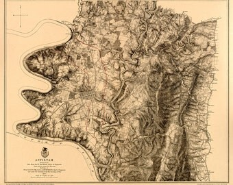 1867 Map of the Battle of Antietam