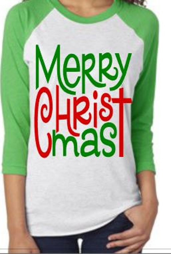 Merry christmas shirt raglan merry christmas shirt Merry christmas t shirt design