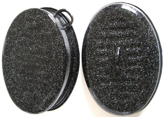 Small Oval Roaster Graniteware Roasting Pans With Offset