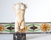 Classical Male Torso Statue - Marble Like Small Sculpture - Made in Greece